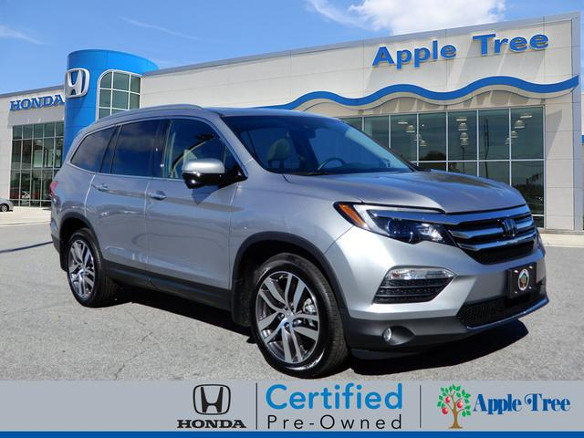 certified pre owned 2018 honda pilot touring awd touring 4dr suv in fletcher h18695 apple. Black Bedroom Furniture Sets. Home Design Ideas